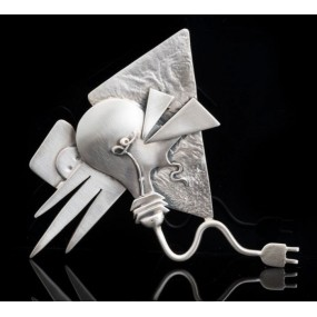 "Handmade Brooch ""Bulb that breaks"""