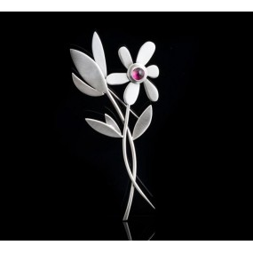 "Handmade Brooch ""Two Flowers"""