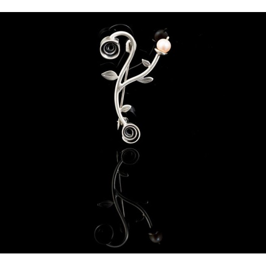 """Handmade Brooch """"Branch Pearl"""""""