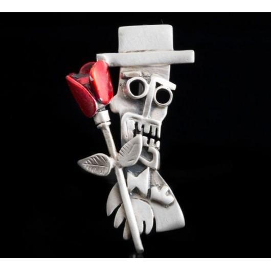 """Handmade Brooch """"Mr.X"""""""