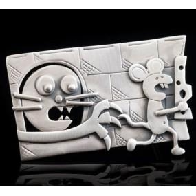 "Handmade Brooch ""Cat Mouse"""