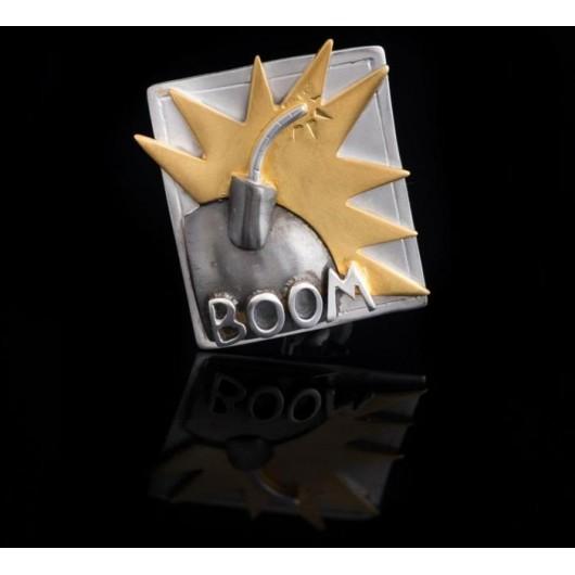 """Handmade Brooch """"BOOM"""""""