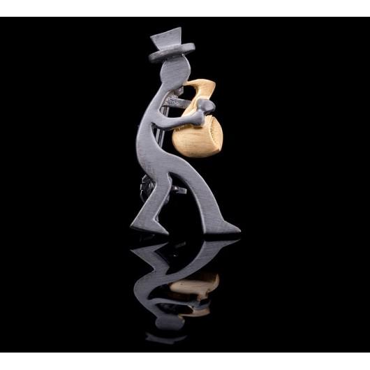 "Handmade Brooch ""Saxophone"""