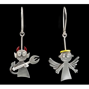 "Handmade earrings ""Devil - Angel"""
