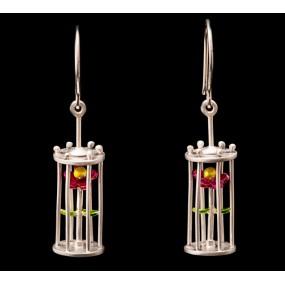 """Handmade earrings """"Flower Cage"""""""