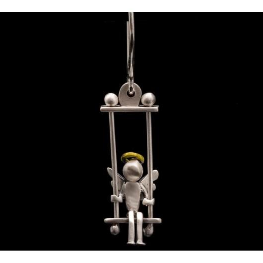 """Handmade earrings """"Angels Swings Silver"""""""