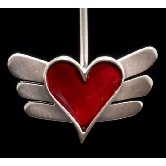 "Handmade earrings ""Heart with Wings"""