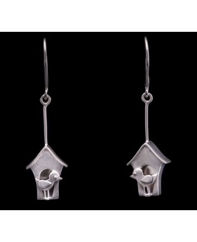 "Handmade earrings ""Little bird house"""