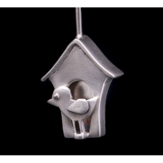"""Handmade earrings """"Little bird house"""""""