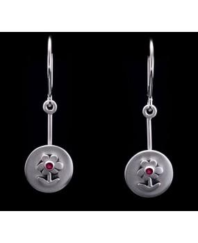 "Handmade earrings ""Circle with Daisy"""
