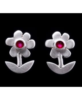"Handmade earrings ""Fuchsia Daisies"""