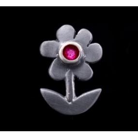 "Handmade earrings ""Daisies with Black Platinum"""