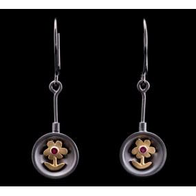 """Handmade earrings """"Daisies Bull"""""""