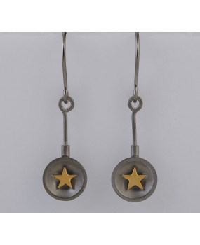 "Handmade earrings ""Stars Bull"""