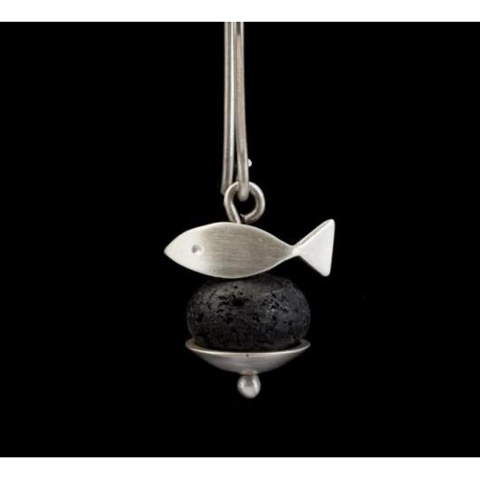 """Handmade earrings """"Cat - Fish"""""""