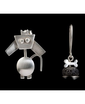 "Handmade earrings ""Dog - Bone"""
