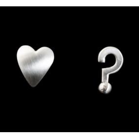 "Handmade earrings ""Heart Question mark"""