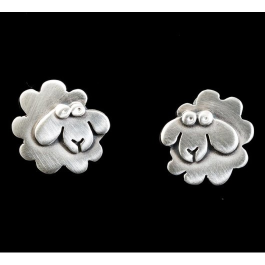"Handmade earrings ""Little sheep"""