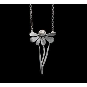 "Handmade necklace ""Sad flower"""