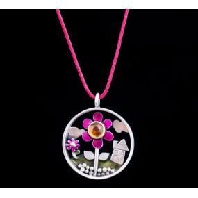 "Handmade necklace ""Circle flower"""