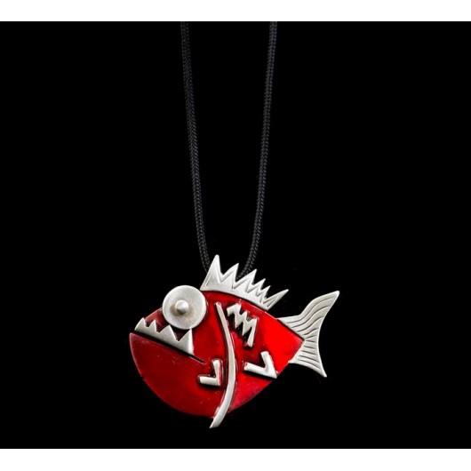 """Handmade necklace """"Piranha"""""""