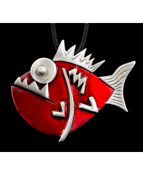 "Handmade necklace ""Piranha"""