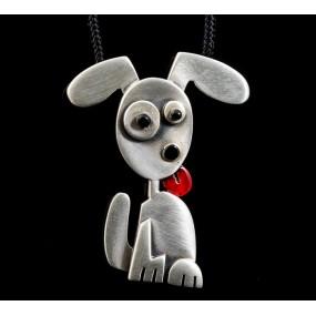 "Handmade necklace ""Happy dog"""