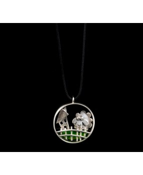 "Handmade necklace ""Circle sheep fence"""
