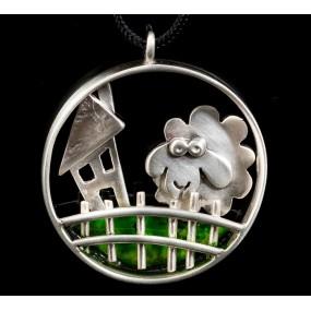 "Handmade necklace ""Circle sheep fence"""