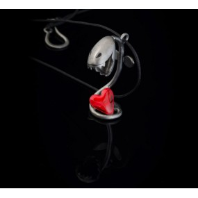 "Handmade necklace ""Carnivore heart"""