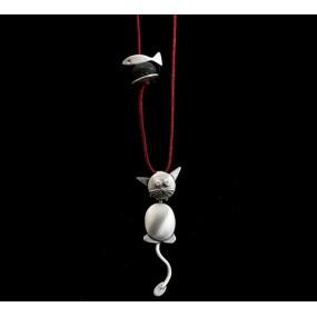 "Handmade necklace ""Cat"""