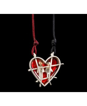 "Handmade necklace ""Prison Heart"""