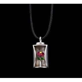 """Handmade necklace """"Flower with enamel"""""""