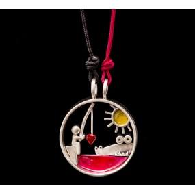 "Handmade necklace ""Crocodile Fisherman"""