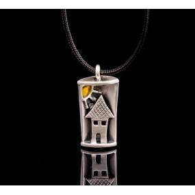 "Handmade necklace ""Little House"""