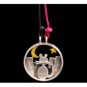 "Handmade necklace ""Cat Circle"""