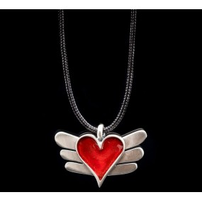 """Handmade necklace """"Heart with Wings"""""""