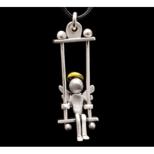 "Handmade necklace ""Angel swing silver"""