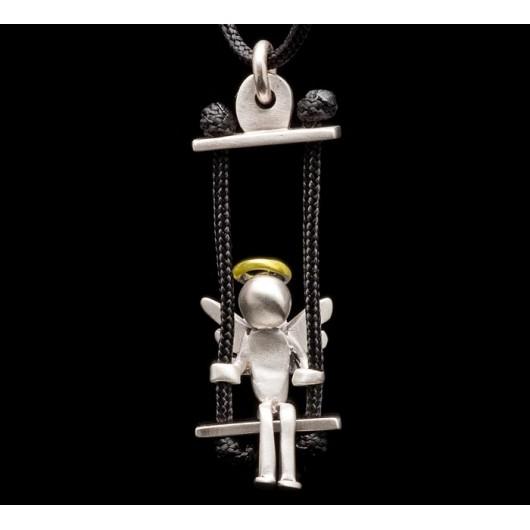 "Handmade necklace ""Angel swing thread"""