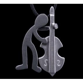 "Handmade necklace ""Contrabass"""