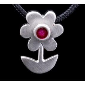 """Handmade necklace """"Fuchsia Daisy"""""""