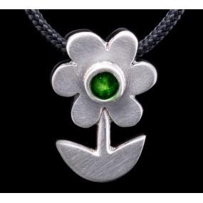 """Handmade necklace """"Green Daisy"""""""