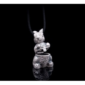 "Handmade necklace ""Opened Rabbit"""