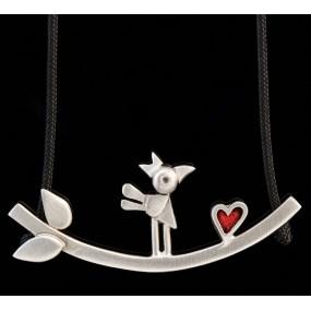 "Handmade necklace ""Bird Bar"""
