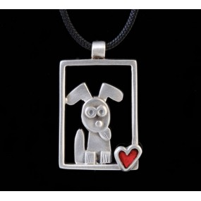 "Handmade necklace ""Frame Dog"""