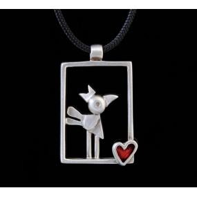 "Handmade necklace ""Frame Bird"""
