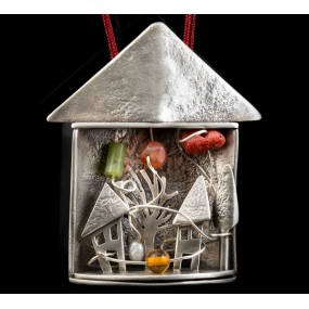 """Handmade necklace """"House with a show"""""""