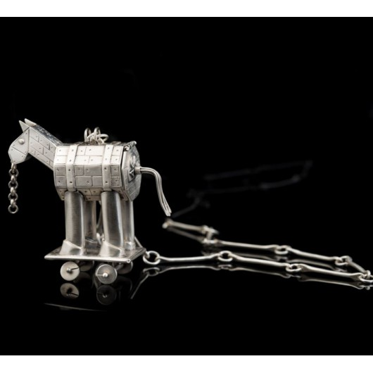 "Handmade necklace ""Trojan Horse"""