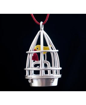 "Handmade necklace ""Bird in a Cage"""