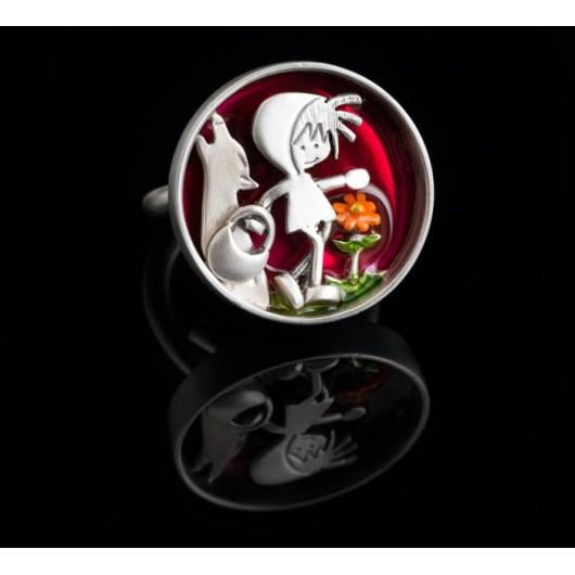 "Handmade ring ""Little red riding hood"""